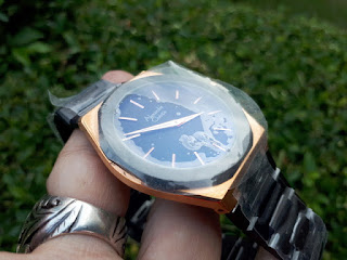 Jam Tangan Pria Alexandre Christie AC8600MD AC-8600MD Black Rose Gold Stainless Steel ALC006