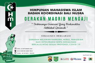 Badko HMI Bali Nusra Tantang Cakada Jadikan Gerakan Magrib Mengaji Sebagai Program Unggulan Daerah