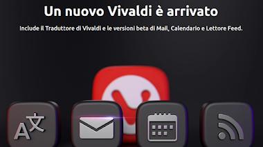 Vivaldi 4.0 aggiunge Vivaldi Translate e beta di Vivaldi Mail, Calendar and Feed Reader