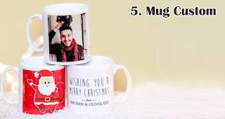 Mug Custom merupakan salah satu rekomendasi kado natal spesial untuk sahabat tercinta