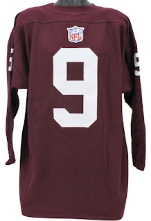 NFL Throwbacks Collection - Logo placement on back of jersey
