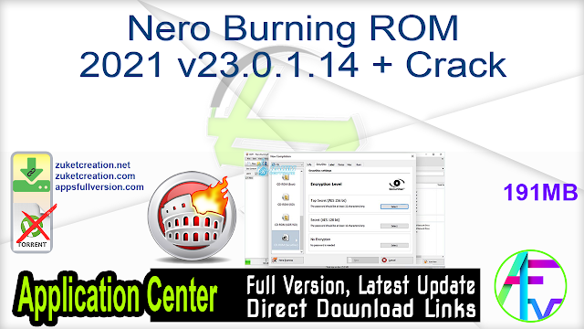 Nero Burning ROM 2021 v23.0.1.14 + Crack