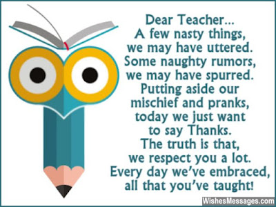 Happy Birthday Wishes For teacher: a few nasty things, we may have uttered