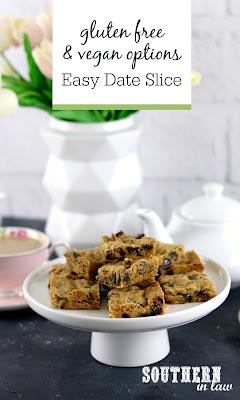 Gluten Free Date Slice Recipe