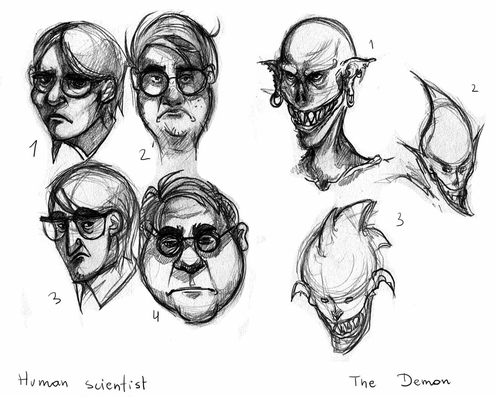 Samantha Niemczyk: Character Design: Villain and His Face