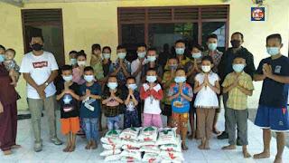 Polsek Medan Timur dan Wartawan Salurkan Bantuan ke Panti Asuhan Dimasa PPKM Darurat