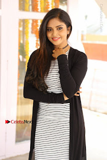 Telugu Actress Karunya Chowdary Stills in Black Dress at Soda Goli Soda Movie Opening  0255.JPG