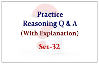 Practice Reasoning Questions (with explanation) for Upcoming IBPS RRB Exams 2015 Set-32