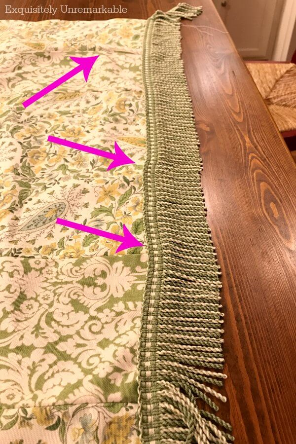 Buckled and Crooked Sewing Seams on a valance
