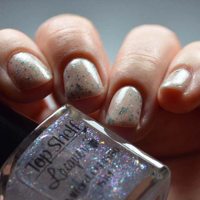rainbow flakie nail polish quick dry top coat