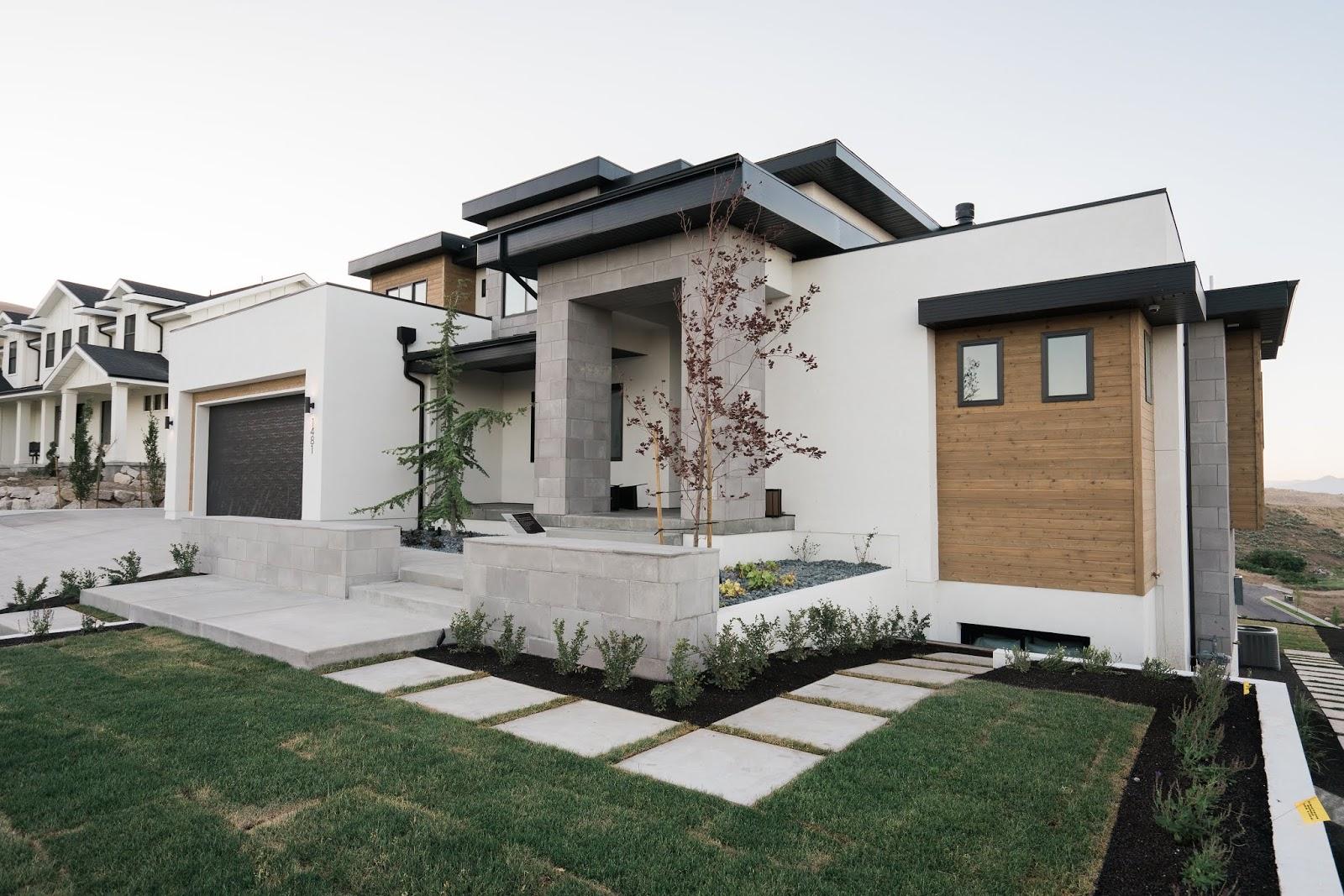 Modern Landscaping, Modern Home