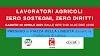"""DECRETO SOSTEGNI: 10 APRILE LAVORATORI AGRICOLI IN PIAZZA """"PRIMA ESSENZIALI ORA DIMENTICATI"""""""
