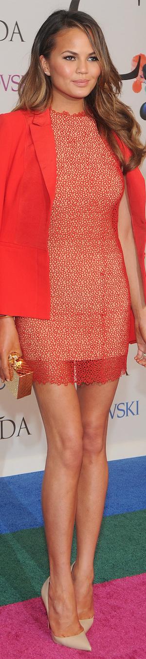 Chrissy Teigen in Rachel Roy CFDA Awards