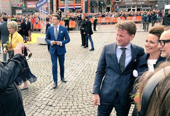 King Willem-Alexander, Queen Máxima, Princess Catharina-Amelia, Princess Ariane and Princess Alexia attend King's Day 2018 celebrations in Groningen