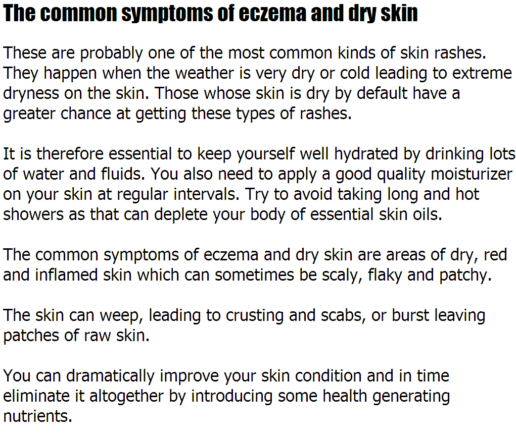 Dry Skin Rash The Common Symptoms Of Eczema And Dry Skin Hartevanblog