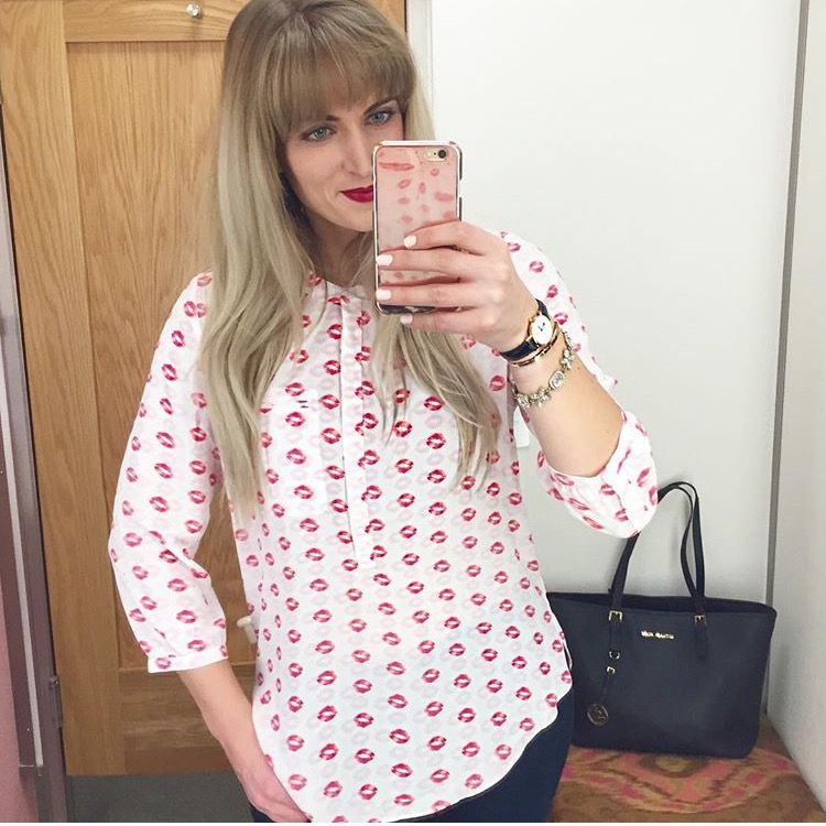 kisses graphic blouse from nordstrom