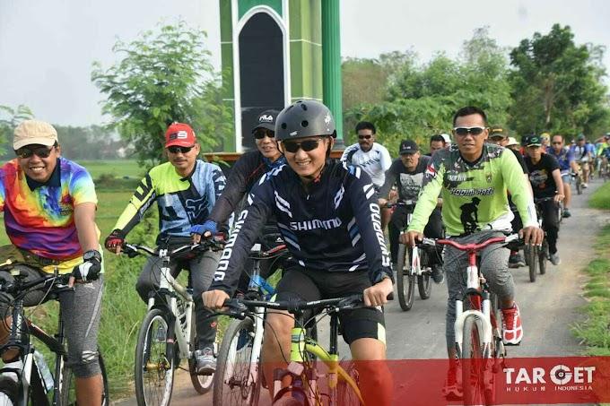 Letkol Czi Adi Ilham Zamani SE : Jelajah Teritorial Bersama Komunitas Sepeda Santai dan Forkopimda