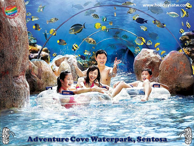 The most important tourist places on Sentosa Island, Singapore
