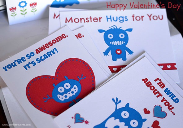 Cordier Events monster Valentine's day card
