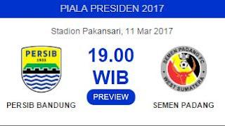 Persib vs Semen Padang Digelar Sabtu 11 Maret 2017