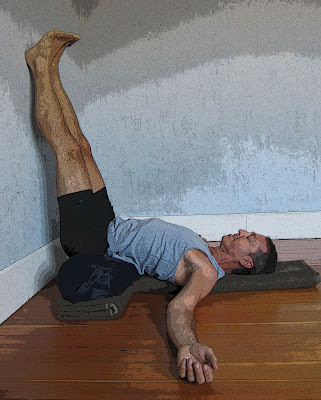 yoga for healthy aging featured pose legs up the wall