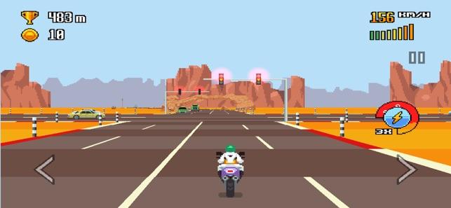 1- لعبة Retro Highway