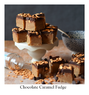 This decadent Chocolate Caramel Fudge recipe is a must try! Caramel is rippled into the traditionally made fudge before being coated with a semi dark chocolate and finished with sprinkles!