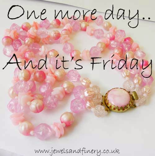 Pink necklace one more day and its friday