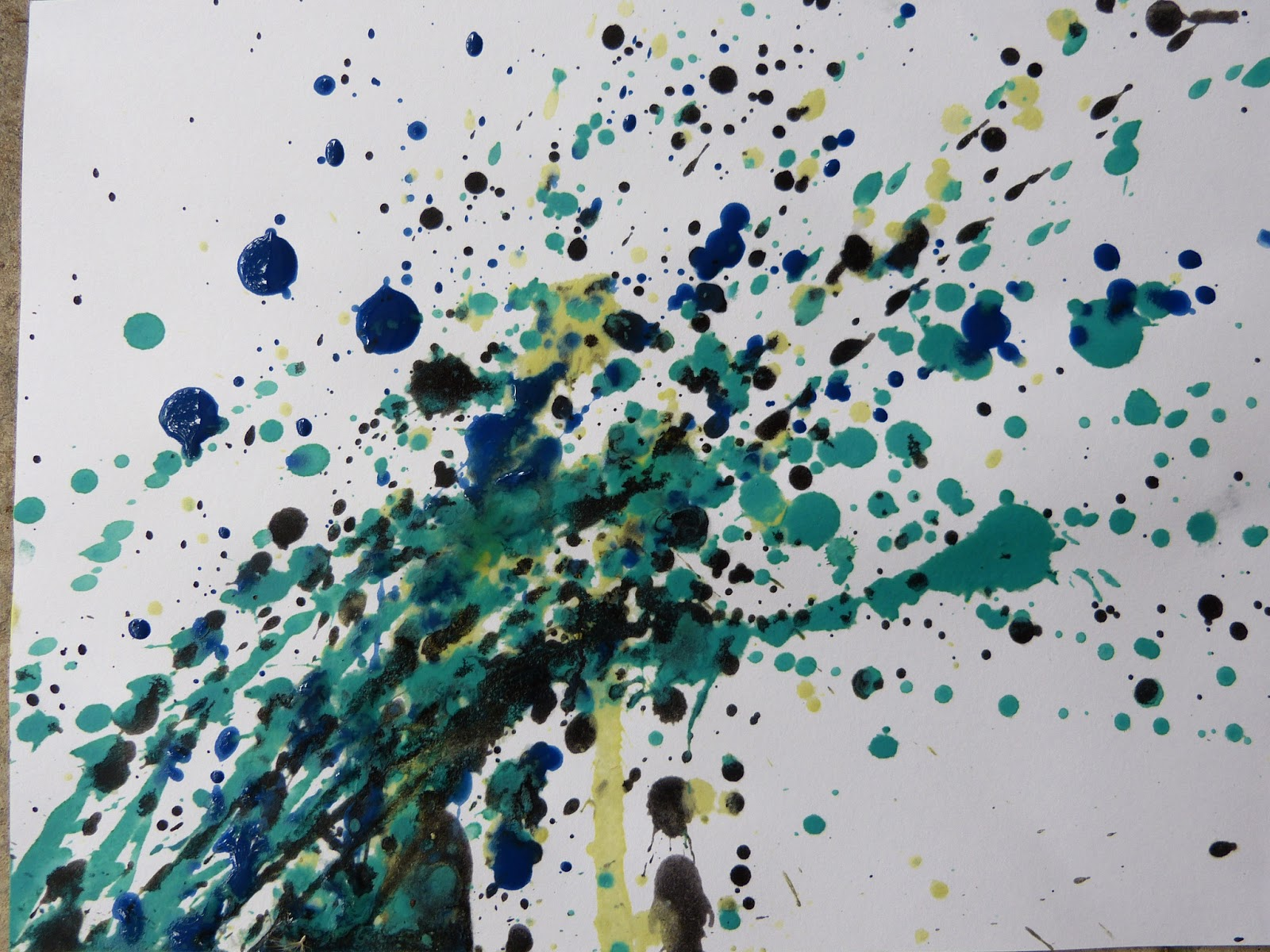 Painting like Jackson Pollock