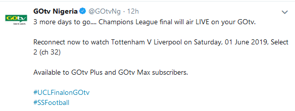 gotv twitter on champions league
