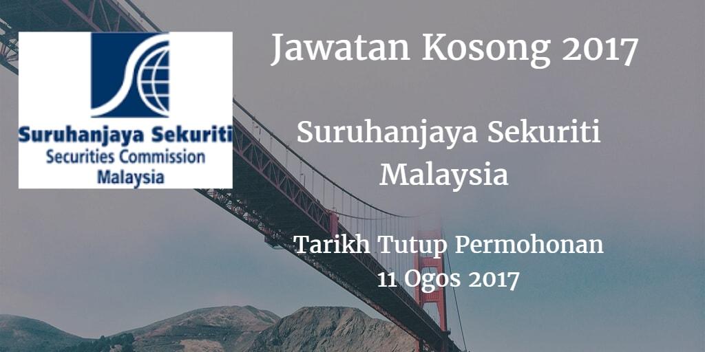 Jawatan Kosong Suruhanjaya Sekuriti Malaysia 11 Ogos 2017