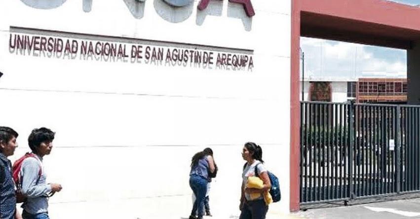 UNSA: Primer semestre del 2021 será virtual en la Universidad Nacional de San Agustín de Arequipa