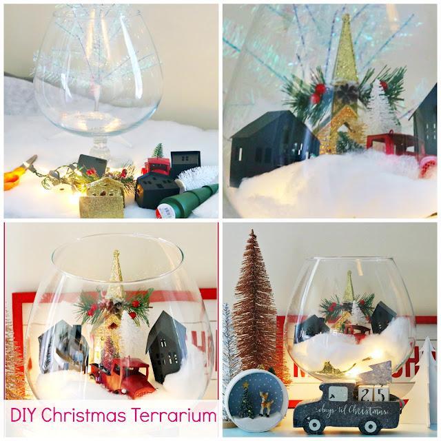 Christmas, craft, decor, village, terrarium, decorating, athomewithjemma