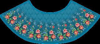Flower Print Mini Skirt Ghera Textile Digital Design - Back 2733