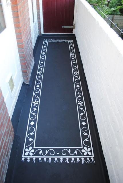 DIY tapijt schilderen