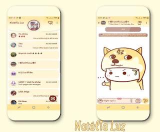 Amarelo Cute Theme For YOWhatsApp & Fouad WhatsApp By Natalia Luz