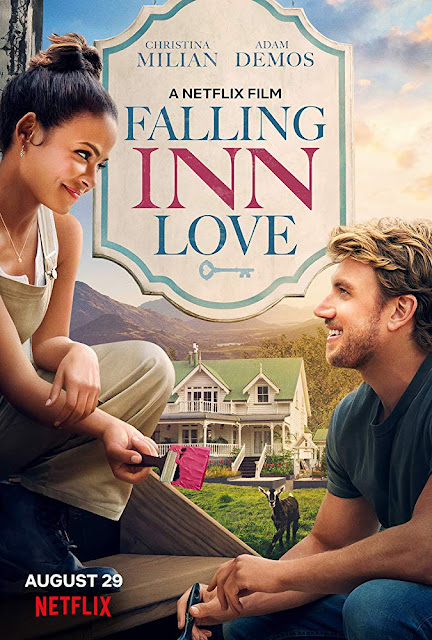 Movie poster for Netflix's 2019 romantic comedy film Falling Inn Love starring Christina Milian, Adam Demos, Jeffrey Bowyer-Chapman, Anna Jullienne, and Claire Chitham