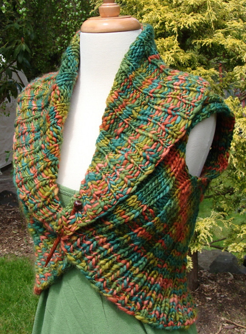 Shawl Collar Vest - Free Pattern