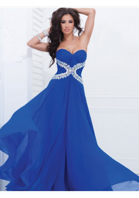 A-line Strapless Floor-length Chiffon Prom Dresses/Evening Dresses #SI054