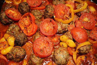 Baked Meatballs and Potatoes (Izmir Kofte)