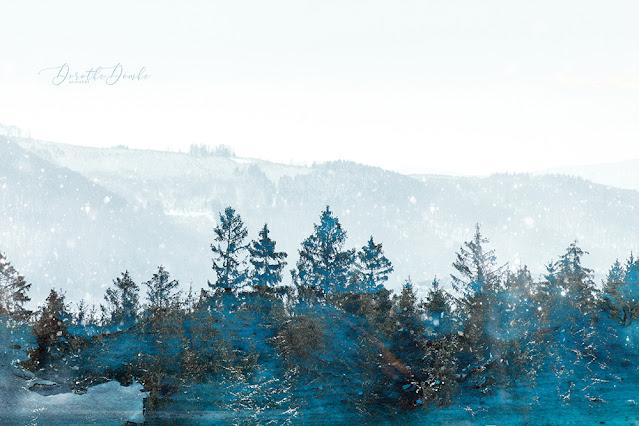 winter im Sauerland, textureblend, art, intentional camera movement