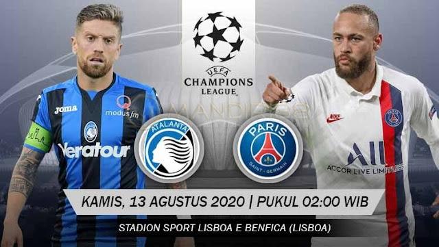 Prediksi Atalanta Vs Paris Saint Germain, Kamis 13 Agustus 2020 Pukul 02.00 WIB @ SCTV