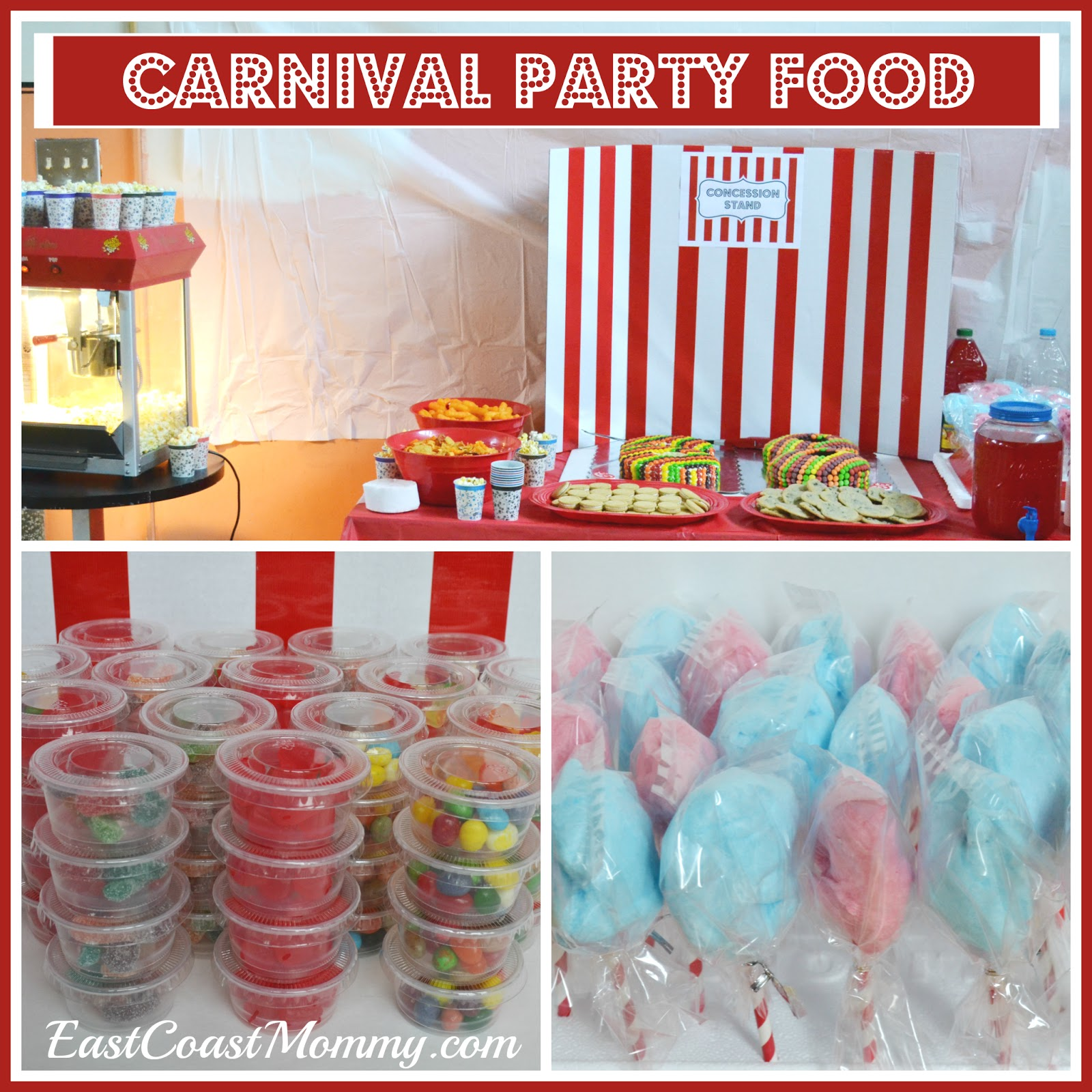 East coast mommy the ultimate diy carnival party - Carnival party menu ...