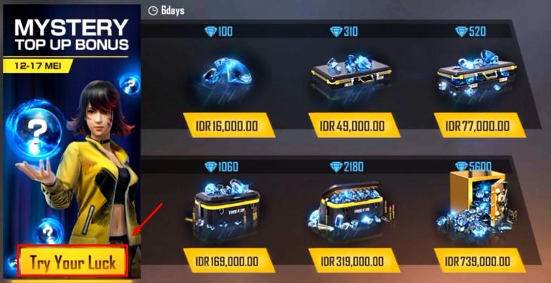 Event Mystery Top Up Bonus Free Fire Dapatkan Diskon Diamond Misterius Retuwit