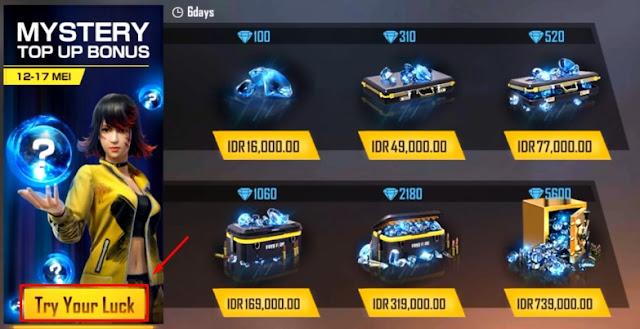 Event Mystery Top Up Bonus Free Fire Dapatkan Diskon Diamond Misterius