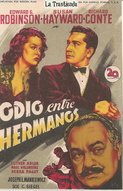 Programa de Cine - Odio entre Hermanos - Edward G. Robinson - Susan Hayward