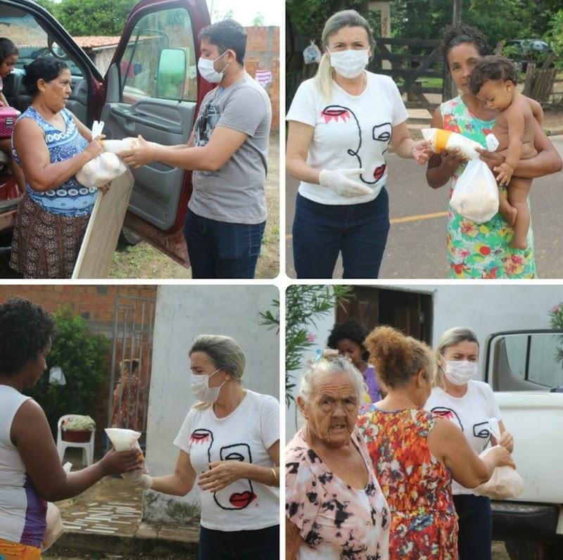 Iniciada a distribuição de pão e leite para desabrigados em Trizidela do Vale.