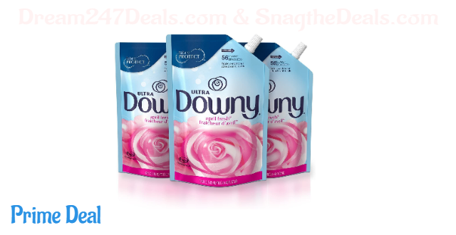 Downy Ultra Liquid Fabric Conditioner (Fabric Softener), April Fresh, 48 Oz Smart Pouches, 3 Pack, 168 Loads Total