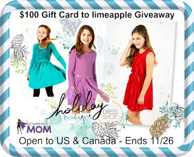 Enter the limeapple Gift Card Giveaway. Ends 11/26