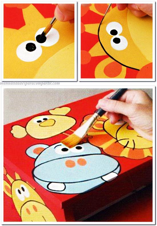 Como pintar banquito infantil escalera de fibrofácil paso a paso  Pintura Decorativa.
